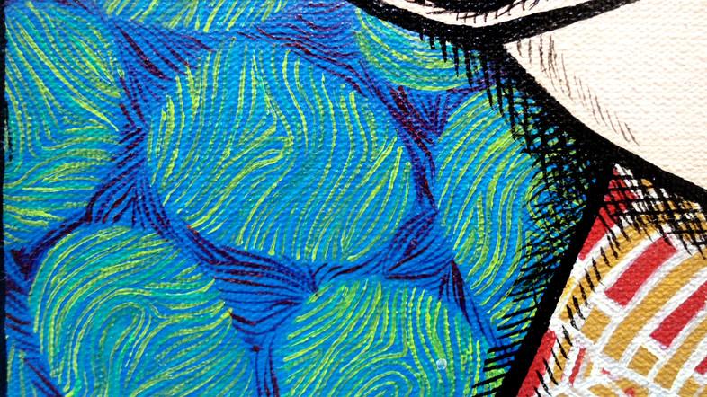 [detalhe] Um brinde a nós e ao lugar em que estamos, 2013 acrílica sobre tela 60 x 100 cm (díptico)
