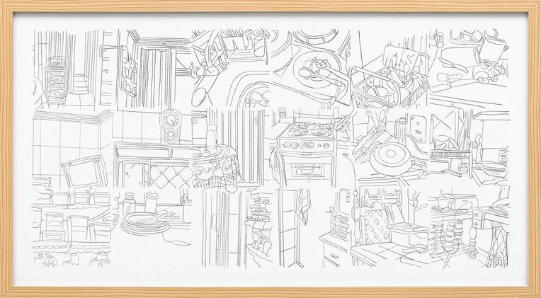 sem título, 2020 Desenho a grafite sobre papel algodão 61 x 34 cm  Foto: Galeria Kogan Amaro