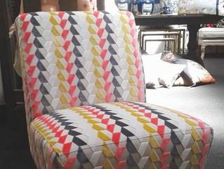 Loving this new chair in Folium Tara Villa Nova fabric