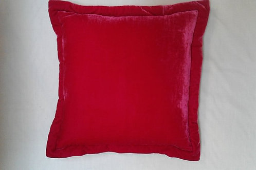 Silk velvet hotpink cushion