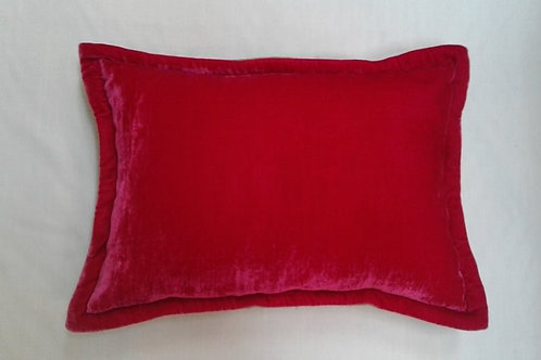 Silk velvet hotpink cushion