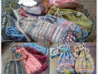 Hand embroidered bags made by Bedouin women of the Sinai