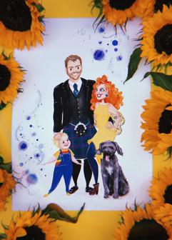 Jessie Wellington Illustration Family Portrait