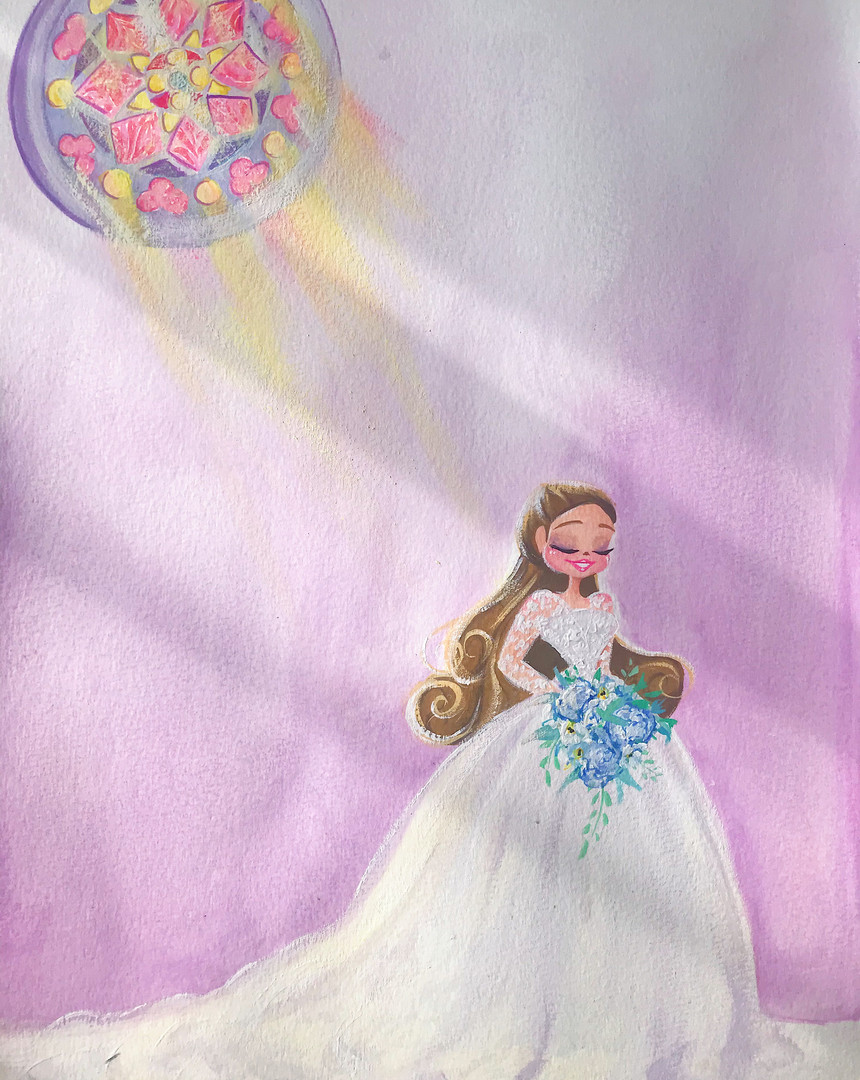 Jessie Wellington Illustration Bridal Portrait