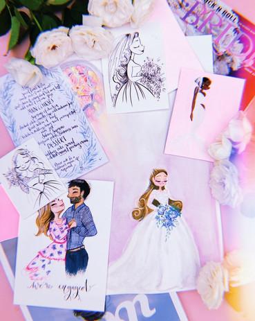Jessie Wellington Illustration Bespoke Wedding Stationery, decor, gifts and services