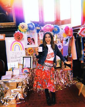 Jessie Wellington, wedding fair, pretty and punk, art fair, wedding fair stand, wedding stand, illustrator