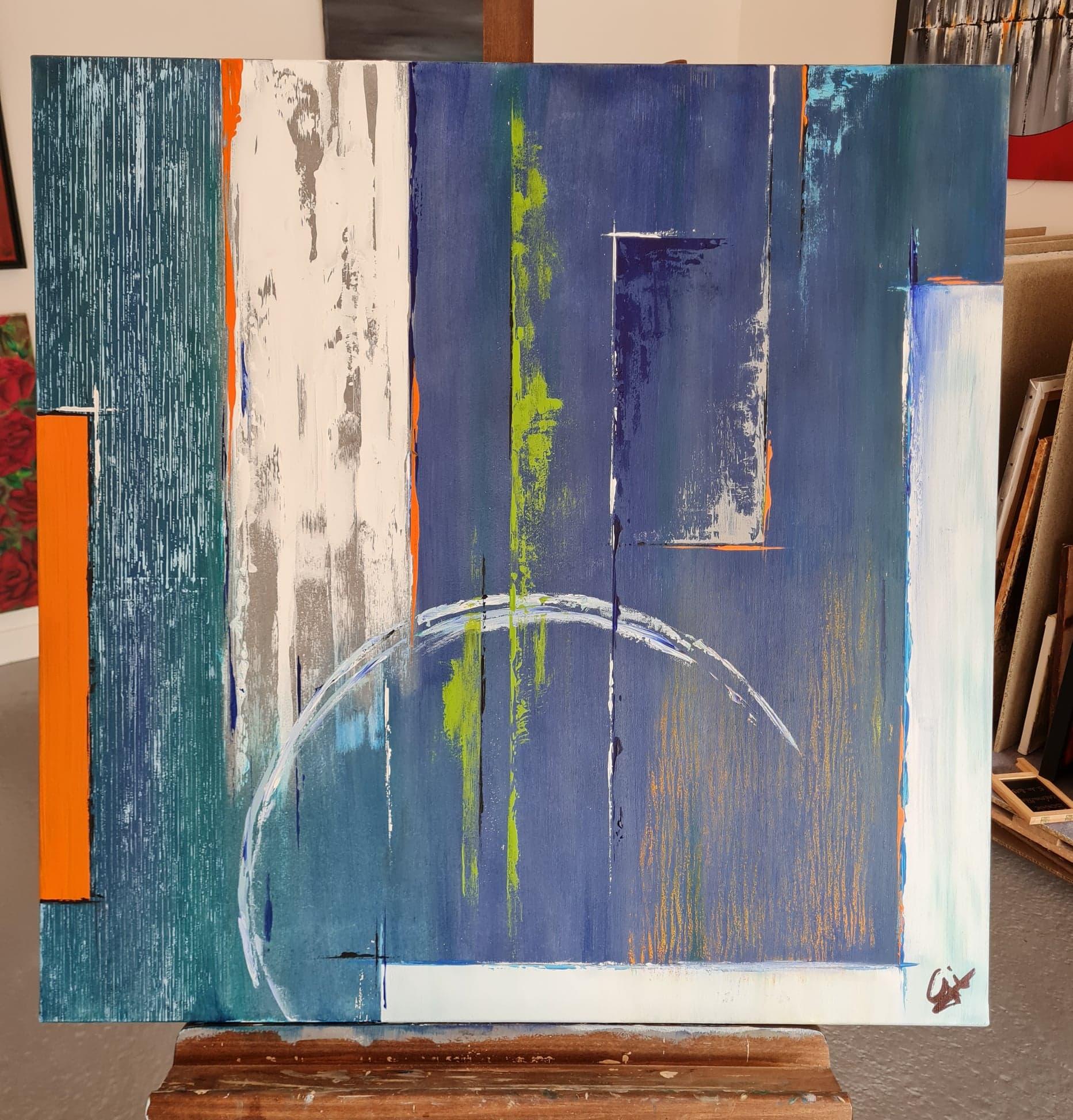 abstrait bleu et couleurs
