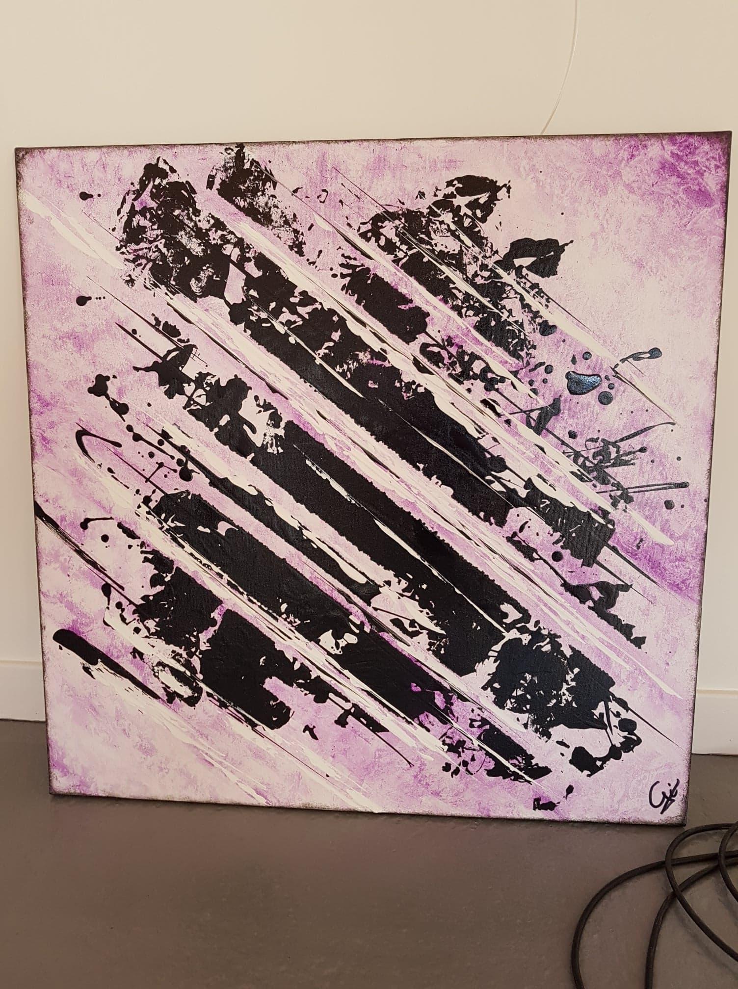 abstrait noir violet