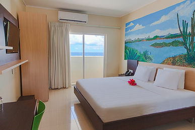 Curacao Airport Hotel Deluxe King bed room ocean view curazao aeropuerto willemstad