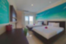 Curacao Airport Hotel Deluxe Double Queen bed room ocean view curazao aeropuerto willemstad