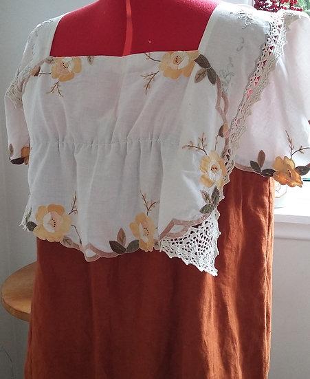 Bohemian rust dress