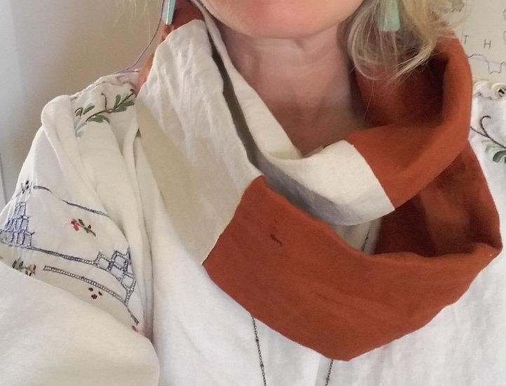 Infinity scarf rust n bone