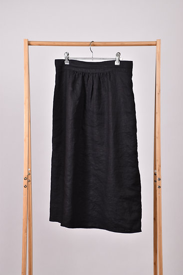 Black linen Rapt skirt
