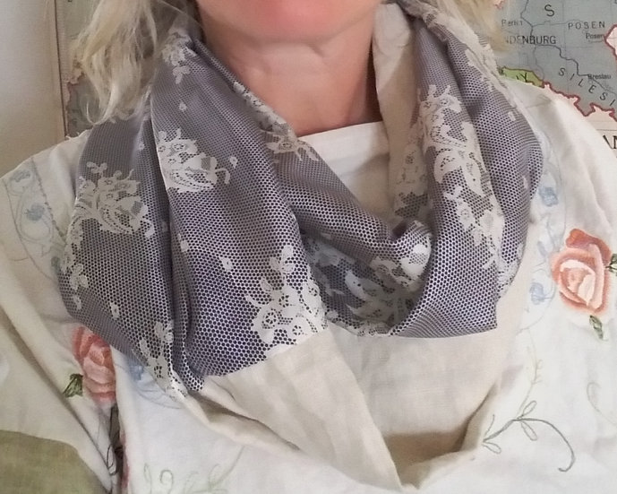 Infinity scarf - silk and linen