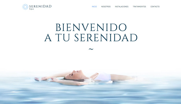 Bienestar y Salud website templates – Spa Serenidad