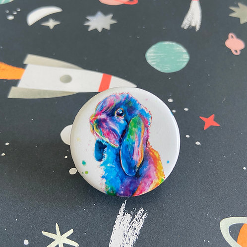 Pop Art Bunny Button