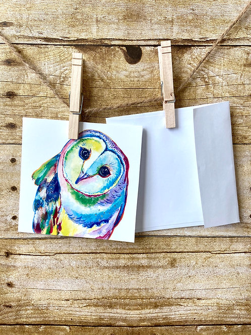 Penelope the Barn Owl Notecard