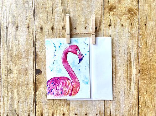 Peg Flamingo Note Card