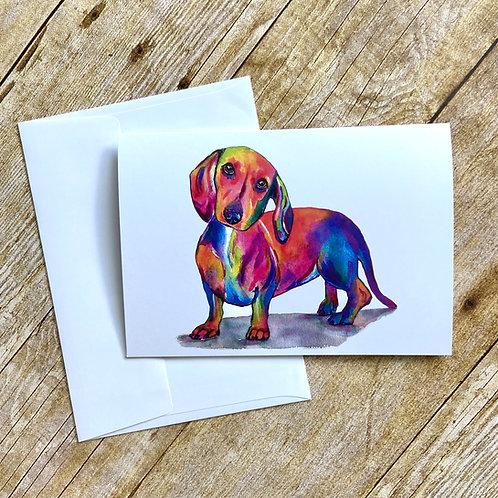 Hank Hot Dog Note Card