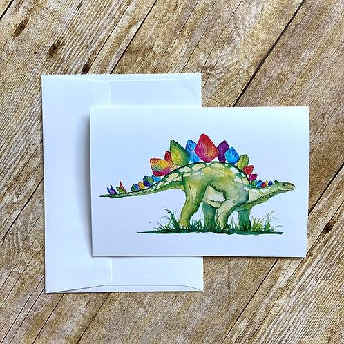 Stella Stegosaurus Note Card