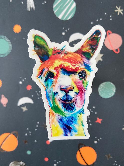 Pop Art Llama Sticker