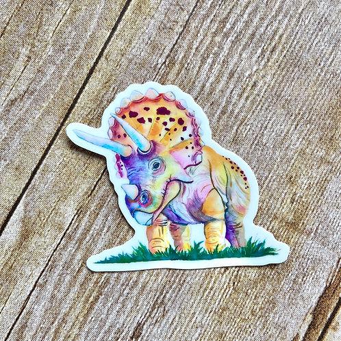 Tater Tot Triceratops Sticker