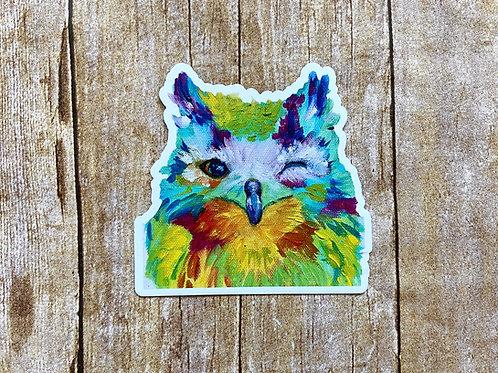 Winking Owl Magnet