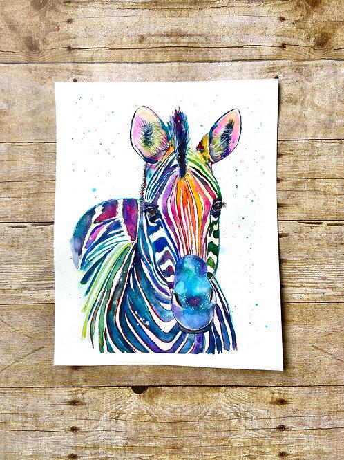 Zebra Original Painting