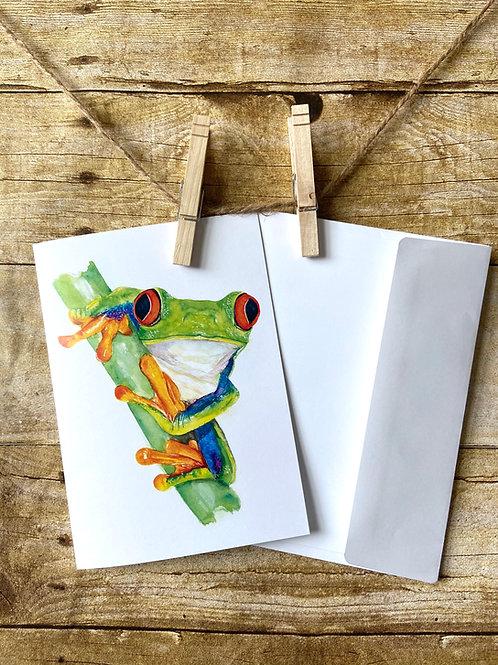 Kelli Sue Tree Frog Notecard