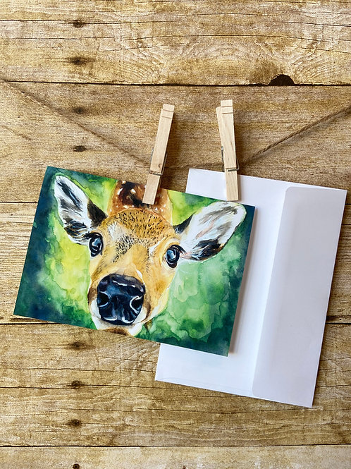 Clara Deer Notecard
