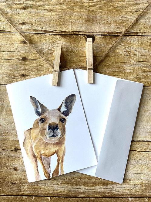 Delilah Kangaroo Notecard