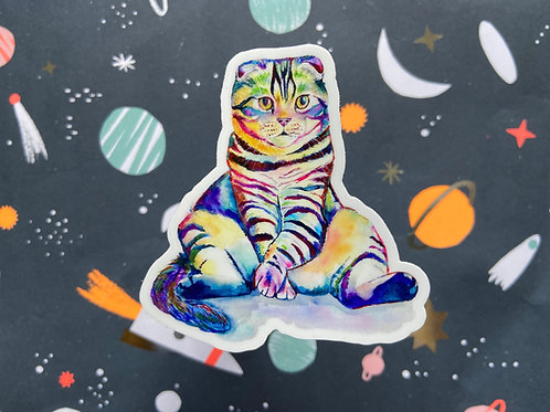 Distinguished Gentleman Cat Sticker