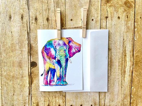 Elmer the Elephant Note Card