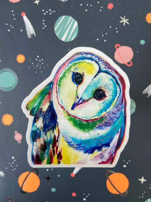 Pop Art Barn Owl Sticker