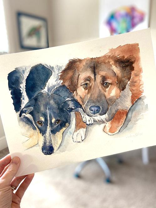 Traditional Two Pet Portrait