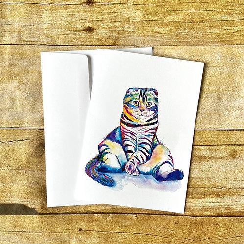 Distinguished Gentleman Cat Note Card