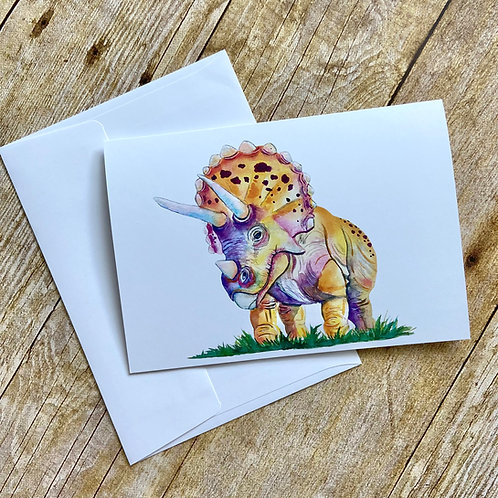 Tater Tot Triceratops Note Card