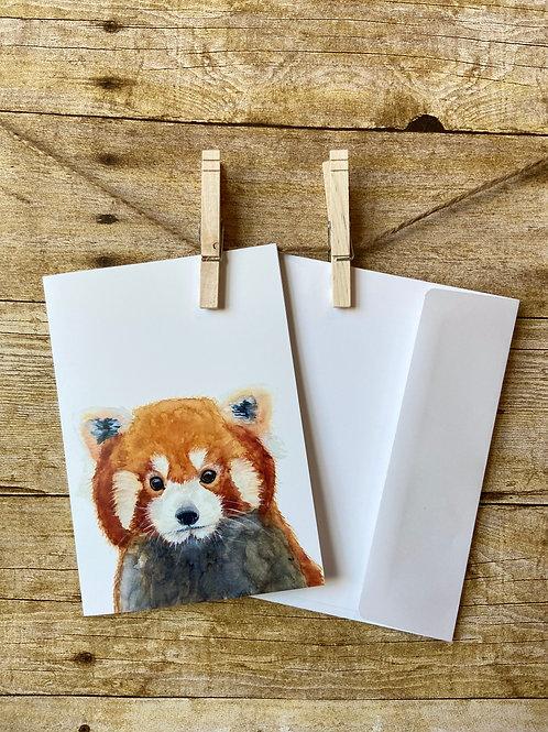 Eloise the Red Panda Notecard