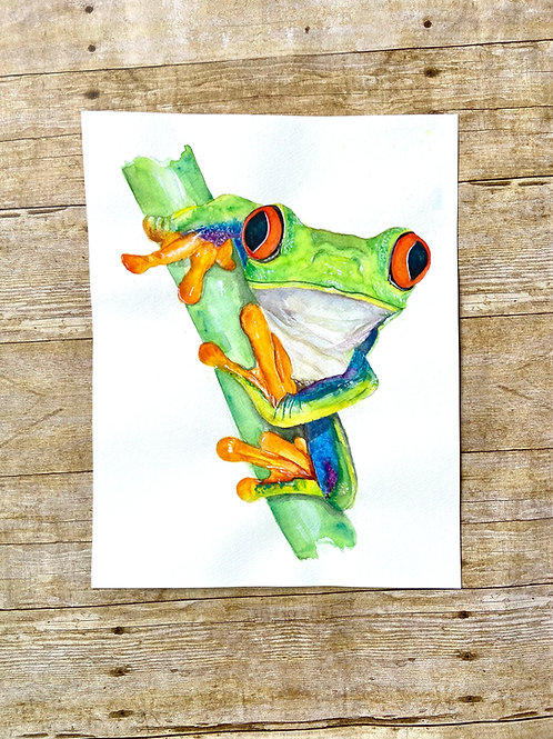 Kelli Sue Tree Frog Original Painting