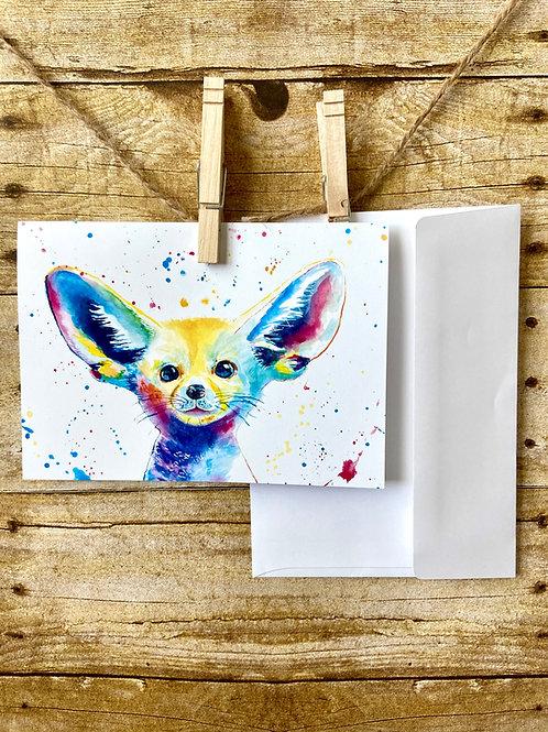 Ralph the Fennec Fox Notecard