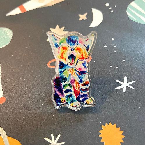 Acrylic Cat Pin