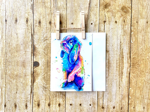 Luna the Lop Eared Bunny Note Card
