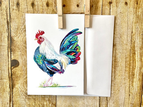 Rooster Note Card