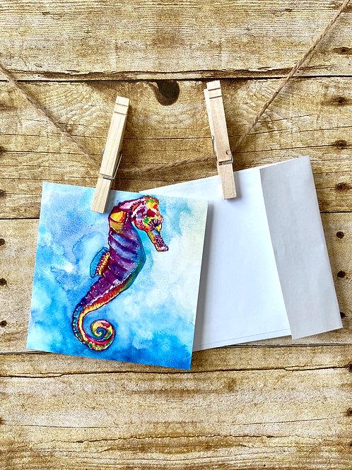 Seahorse Notecard