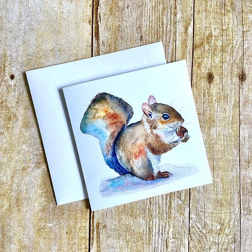 Judy Squirrel Note Card