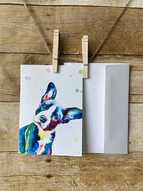 Bean the Rescue Dog Note Card