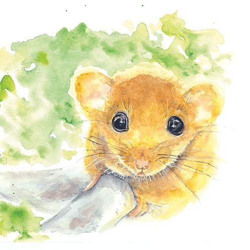 Luigi Mouse Watercolor Print
