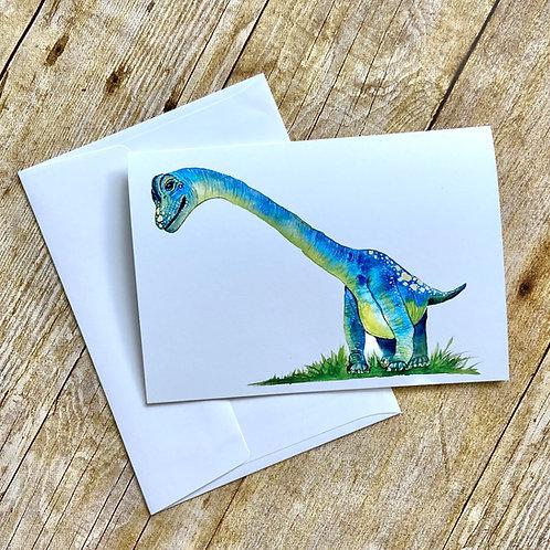 Barb Brachiosaurus Note Card
