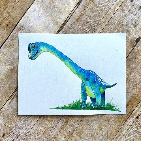 Barb Brachiosaurus Original Painting