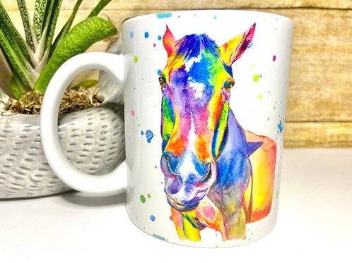 Rainbow Horse Mug (15 oz)